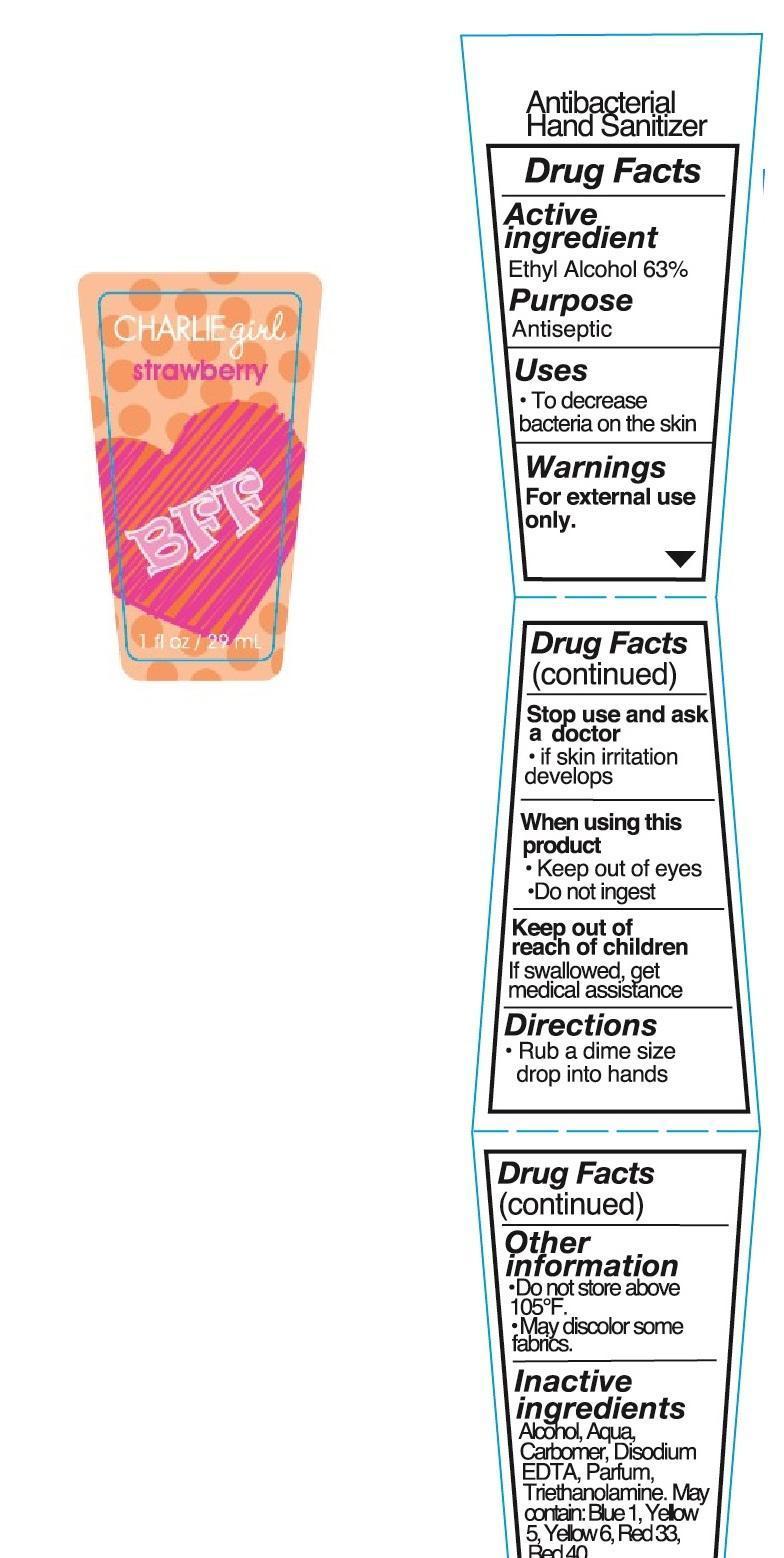 Charlie Girl Strawberry Antibacterial Hand Sanitizer (Alcohol) Liquid [Enchante Accessories Inc. ]