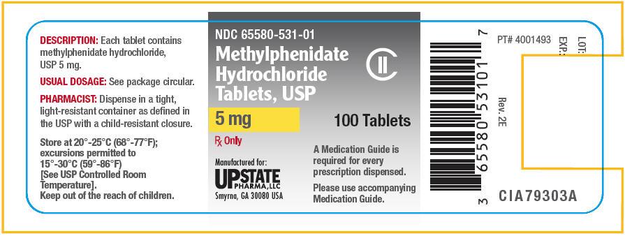 Methylphenidate Hydrochloride Tablet [Upstate Pharma, Llc]
