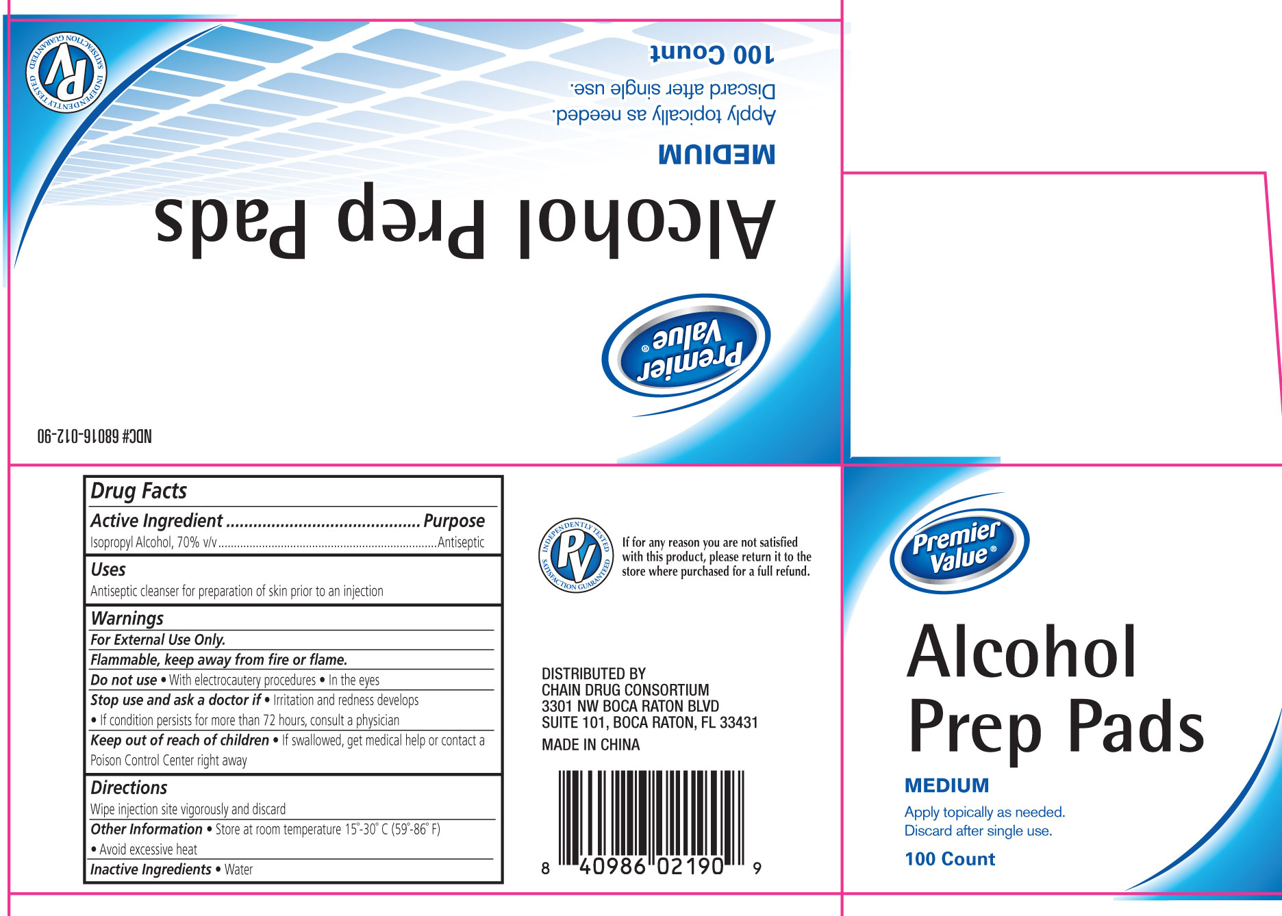 Alcohol Prep (Isopropyl Alcohol) Swab [Chain Drug Consortium, Llc]