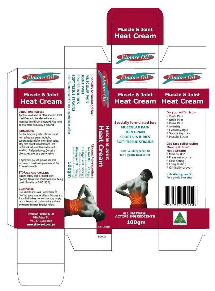 Muscle And Joint Heat Cream (Eucalyptus Oil And Tea Tree Oil) Cream [Ultra Mix (Aust) Pty Ltd ]
