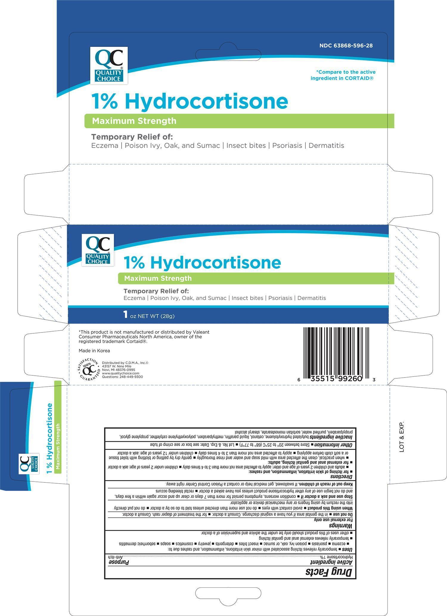 Quality Choice Hydrocortisone Maximum Strength (Hydrocortisone) Cream [Chain Drug Marketing Association Inc]