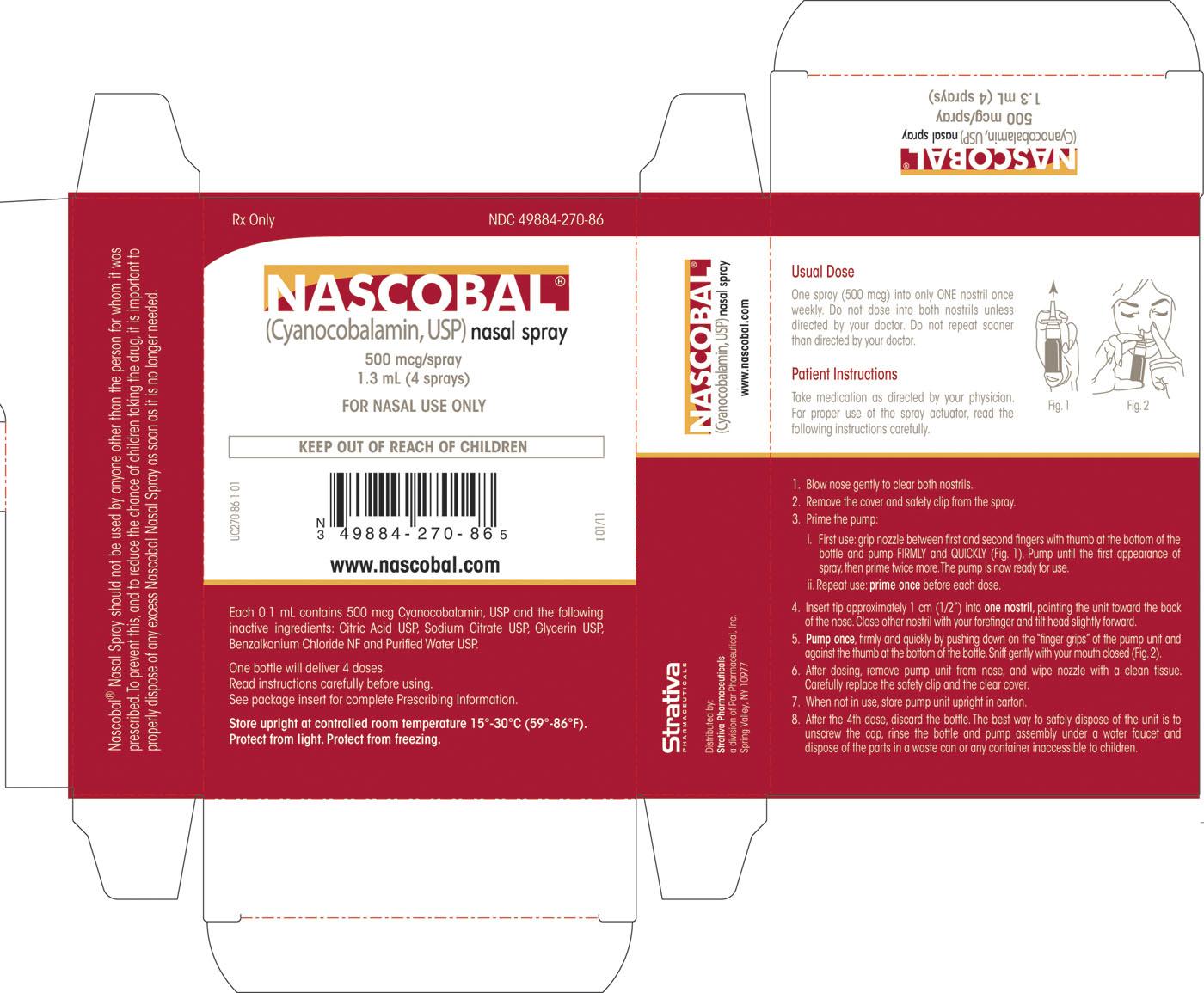 Nascobal (Cyanocobalamin) Spray [Par Pharmaceutical , Inc]