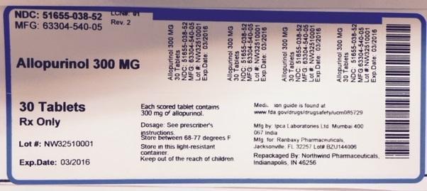 Allopurinol Tablet [Northwind Pharmaceuticals, Llc]