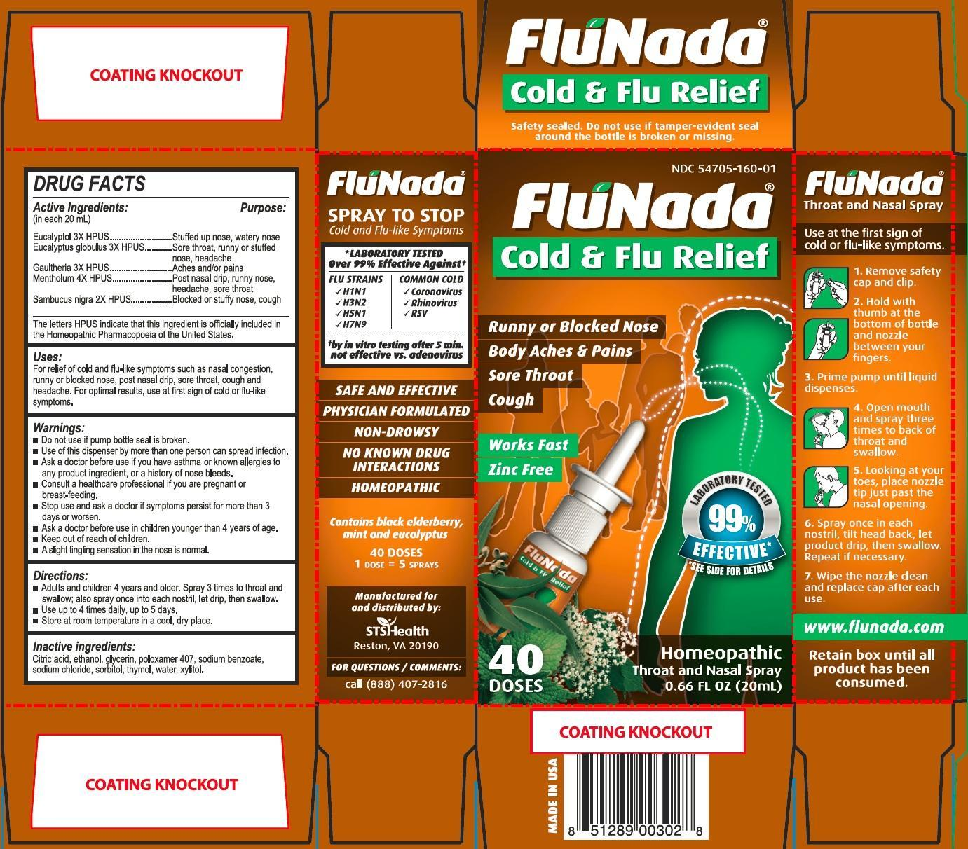 Flunada Cold And Flu Relief (Eucalyptol, Eucalyptus Globulus Whole, Menthol, Sambucus Nigra Whole, Methyl Salicylate) Spray, Metered [Flutrends International Corporation]