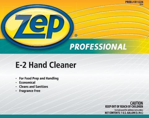 Zep Professional E-2 Hand Cleaner (Benzalkonium Chloride) Liquid [Zep Inc.]