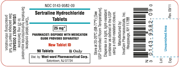 Sertraline Hydrochloride Tablet, Film Coated [West-ward Pharmaceutical Corp]
