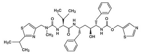 Chemical structure for ritonavir.