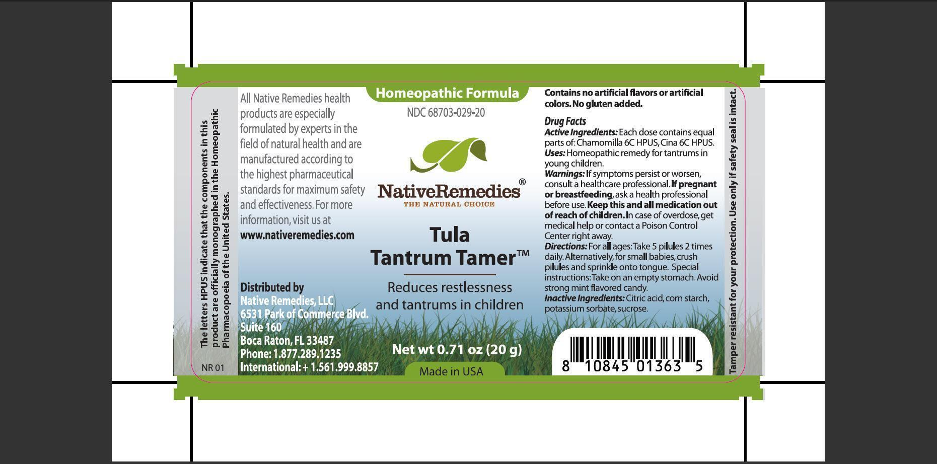 Tula Tantrum Tamer (Chamomilla, Cina) Granule [Native Remedies, Llc]