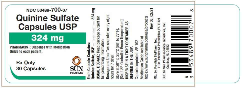 Quinine Label