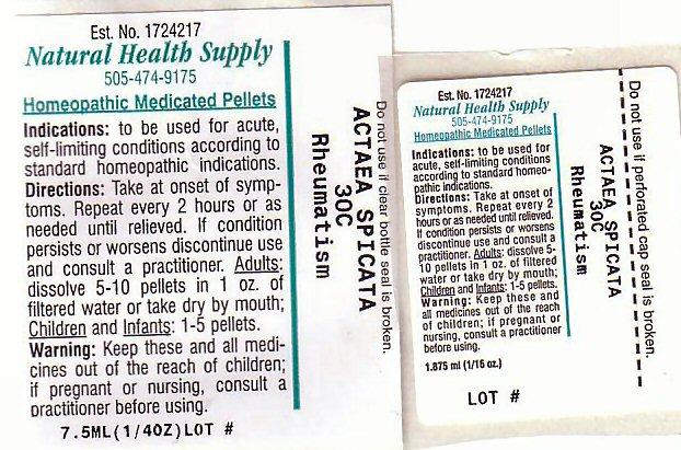 Rheumatism (Actaea Spicata Root) Pellet [Natural Health Supply]
