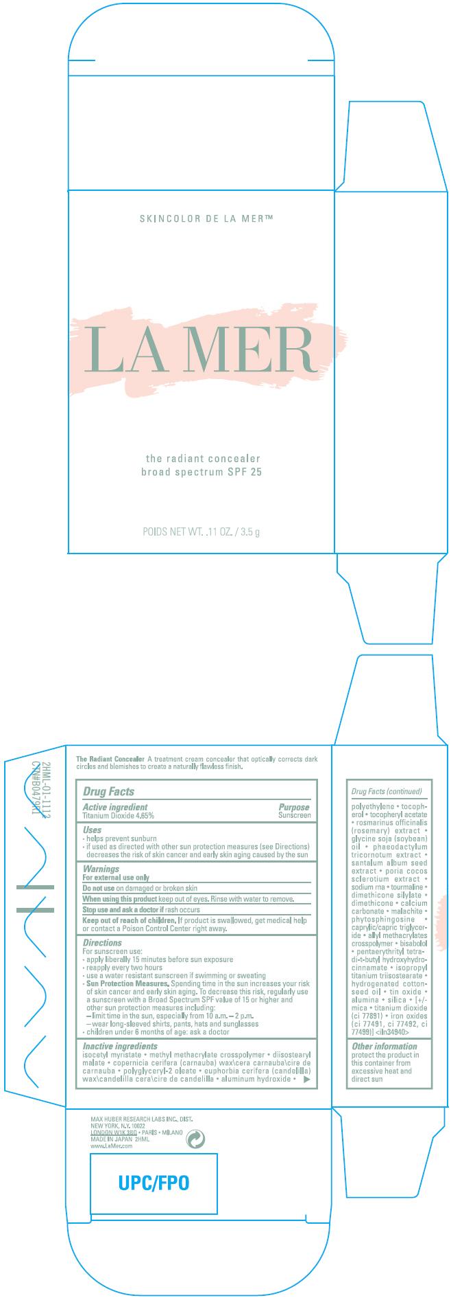 The Radiant Concealer Broad Spectrum Spf 25 (Titanium Dioxide) Cream [Max Huber Research Lab Inc]