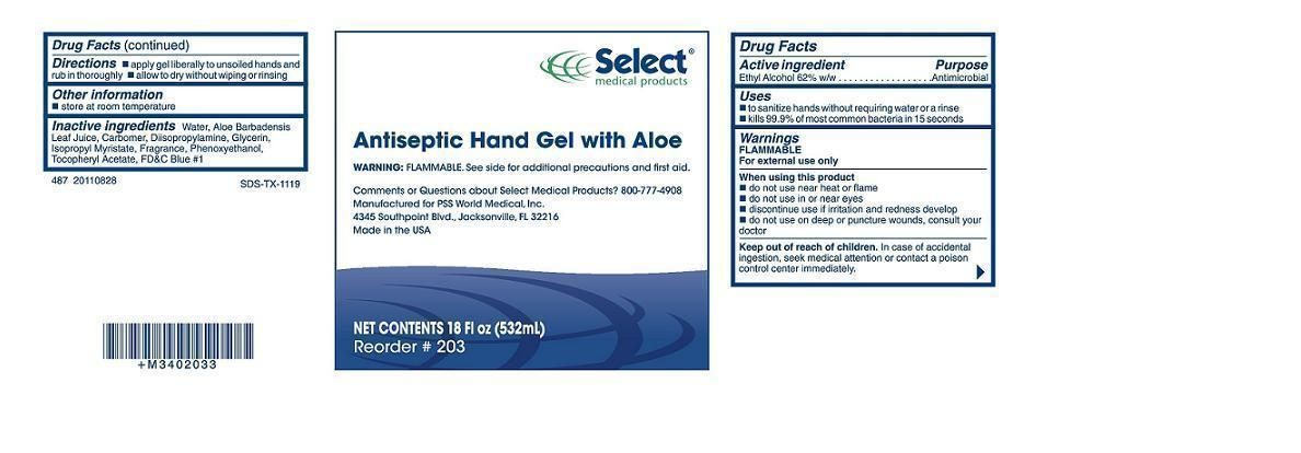 Select Antiseptic Hand Gel With Aloe (Alcohol) Soap [Healthlink]