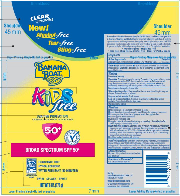 Banana Boat Kids Free 50 Spray [Energizer Personal Care, Llc]