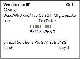 Venlafaxine Hydrochloride Tablet, Extended Release [Clinical Solutions Wholesale]