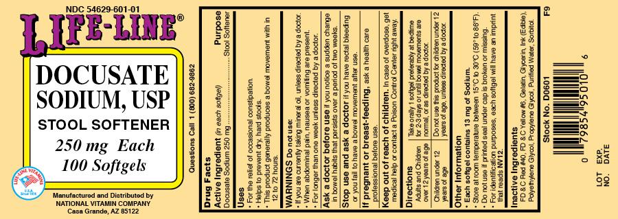 Docusate Sodium Capsule, Liquid Filled [National Vitamin Company]