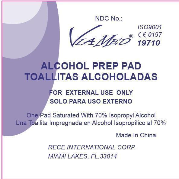 Viamed Alcohol Prep Pad (Alcohol) Swab [Wuxi Medical Instrument Factory]