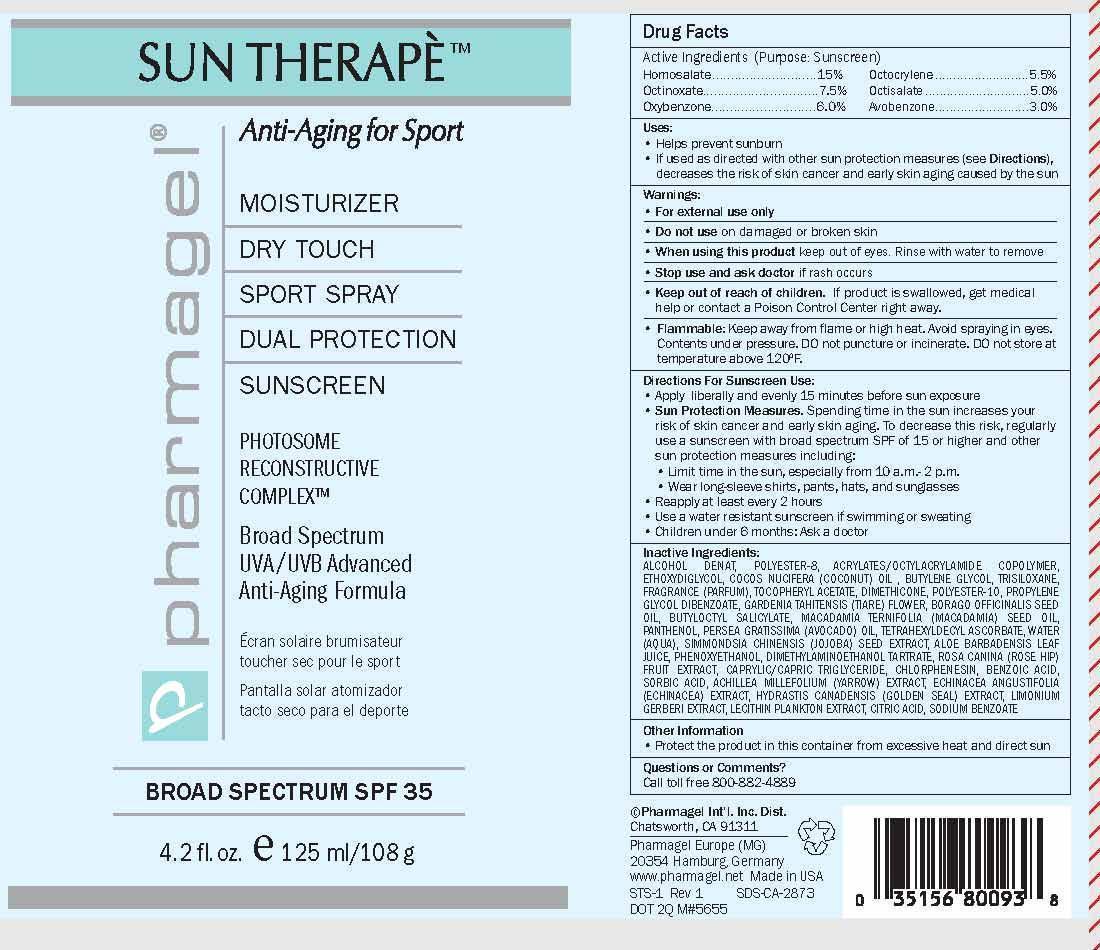Sun Therape Sport Spf-35 (Homosalate, Octinoxate, Oxybenzone, Octocrylene, Octisalate, Avobenzone) Spray [Pharmagel International Inc]