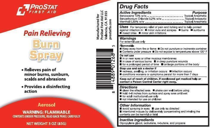 Prostat Burn First Aid (Benzethonium Chloride, Benzocaine, And Menthol) Aerosol, Spray [Prostat First Aid]