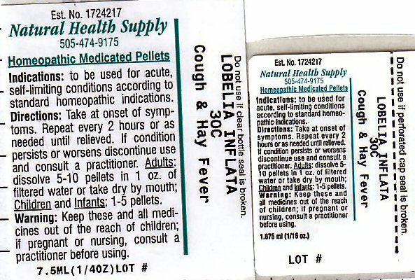 Cough Hay Fever (Lobelia Inflata) Pellet [Natural Health Supply]