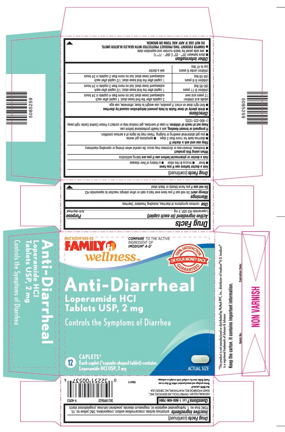 Loperamide Hydrochloride Tablet [Family Dollar Services, Inc.]