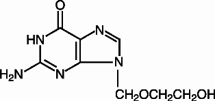 Structural Formula for acyclovir