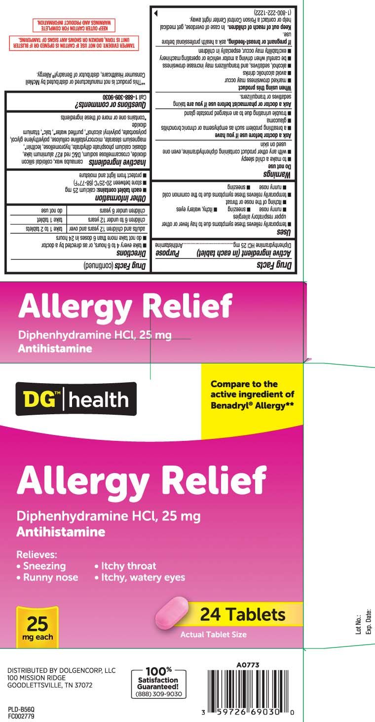 Allergy Relief (Diphenhydramine Hcl) Tablet [Dolgencorp, Inc. (Dollar General & Rexall)]