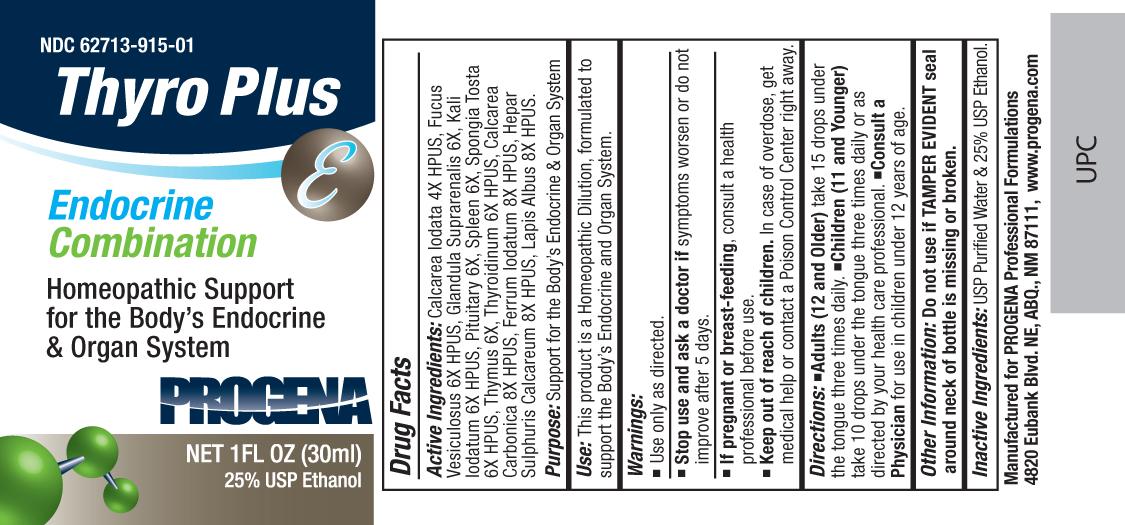 Progena Thyro Plus (Calcarea Iodata, Fucus Vesiculosus, Glandula Suprarenalis, Kali Iodatum, Pituitary, Spleen, Spongia Tosta, Thymus, Thyroidinum, Calcarea Carbonica, Ferrum Iodatum, Hepar Sulphuris Calcareum, Lapis Albus) Liquid [Meditrend, Inc. Dba Progena Professional Formulations]