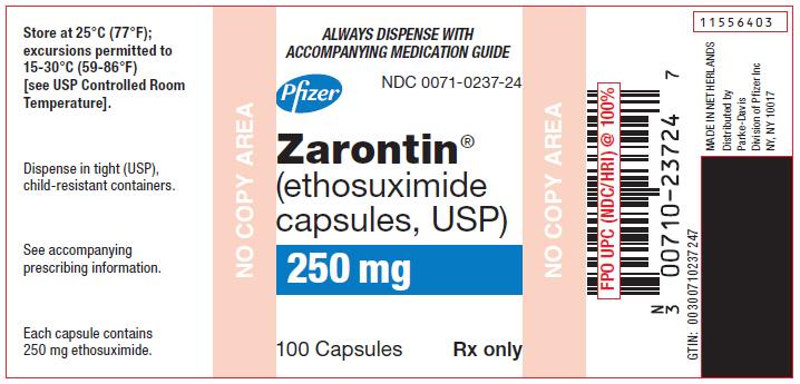 PRINCIPAL DISPLAY PANEL - 250 mg Capsule Bottle Label