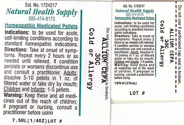 Cold Or Allergy Pellet [Natural Health Supply]