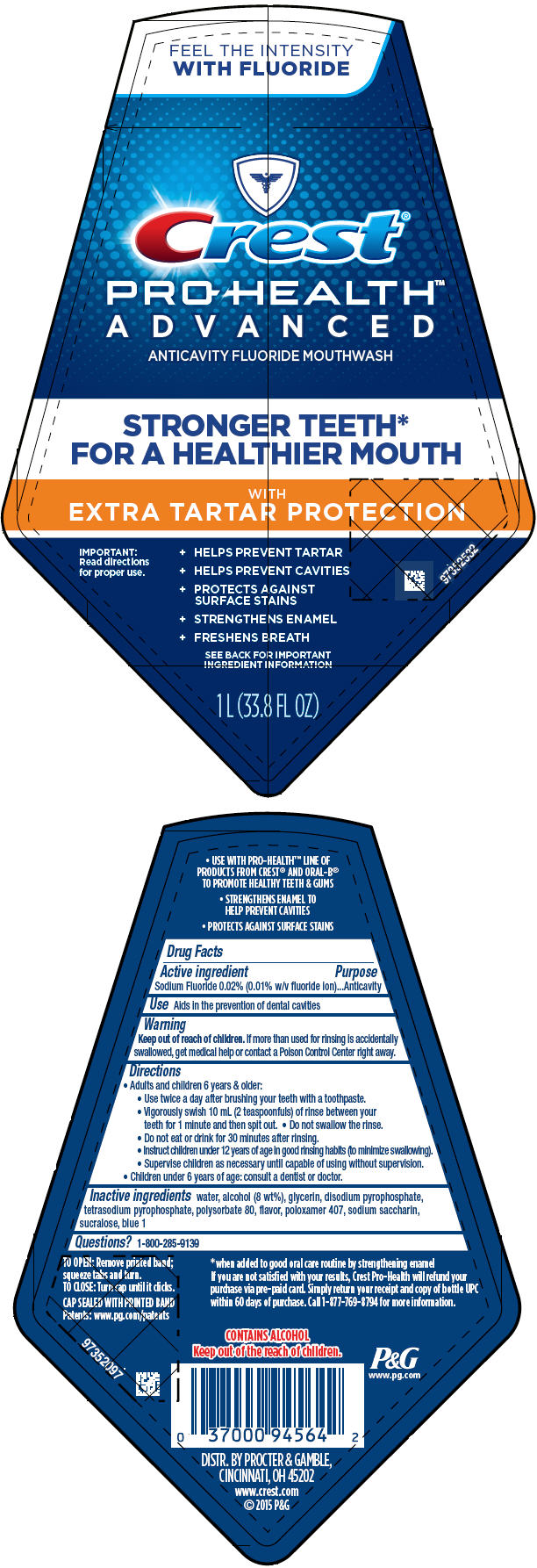 Crest Pro-health Advanced With Extra Tartar Protection (Sodium Fluoride) Rinse [Procter & Gamble Manufacturing Company]