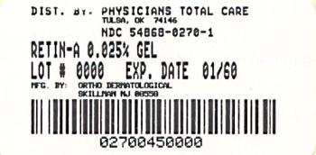 image of 0.025% Gel package label