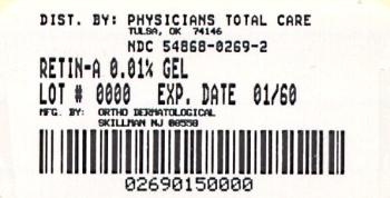 image of 0.1% Gel package label