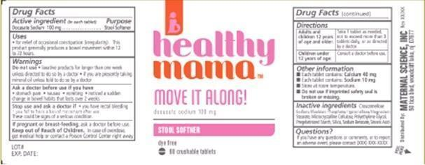 Healthy Mama Move It Along (Docusate Sodium) Tablet, Film Coated [Maternal Science, Llc]