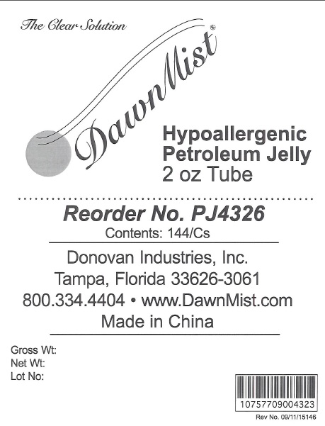Petroleum Jelly Label