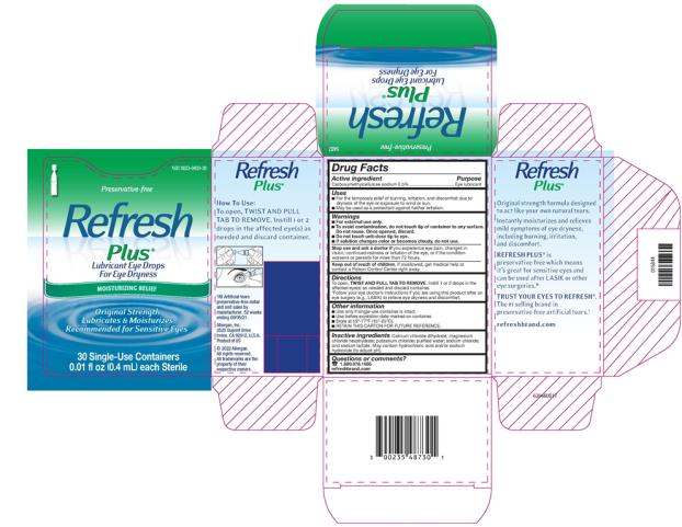 PRINCIPAL DISPLAY PANEL NDC 0023-0403-30 Preservative-free Refresh Plus Lubricant Eye Drops MOISTURIZING RELIEF  Immediate, soothing relief  for dry eyes. Also recommended  for LASIK dryness* 30 Single-Use Containers 0.01 fl oz (0.4 mL) each Sterile