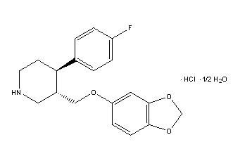 Paroxetine Hydrochloride Structural Formula