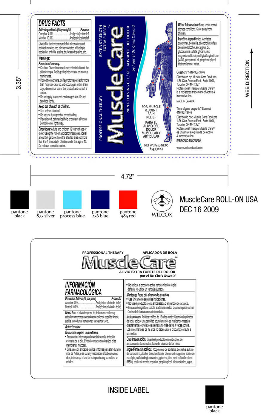 Musclecare Pain relieving gel