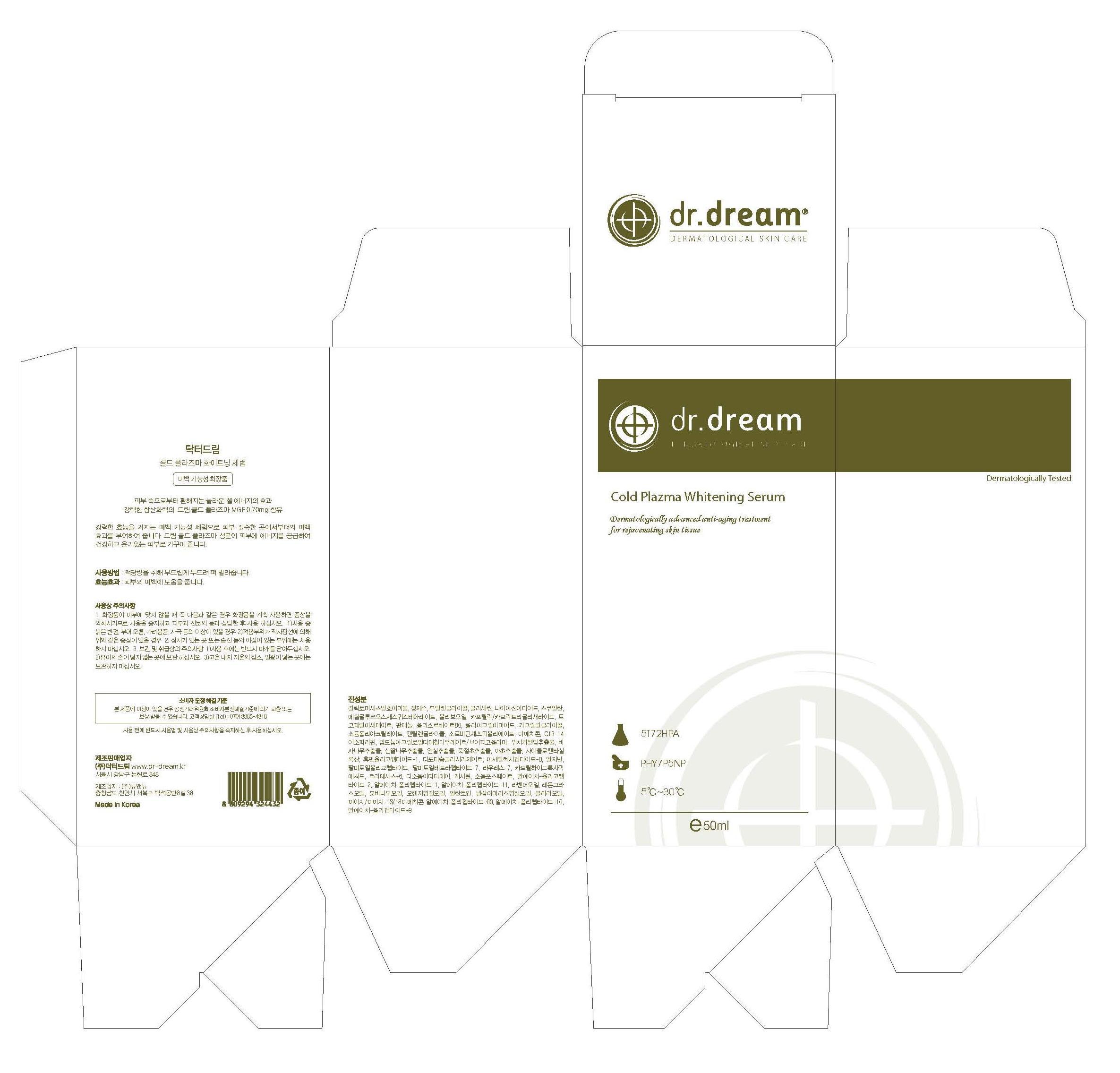 Dr. Dream Cold Plazma Whitening Serum (Witch Hazel) Liquid [Dr. Dream Inc]