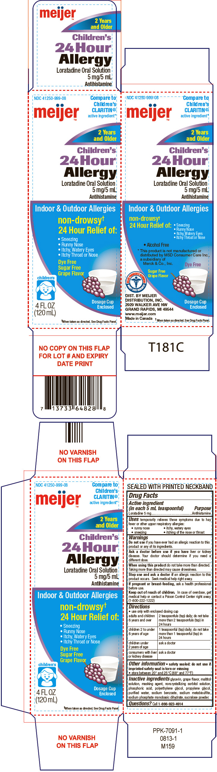Meijer Childrens 24 Hour Allergy (Loratadine) Solution [Meijer Distribution Inc]
