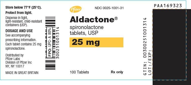 Aldactone (Spironolactone) Tablet, Film Coated [G.d. Searle Llc Division Of Pfizer Inc]