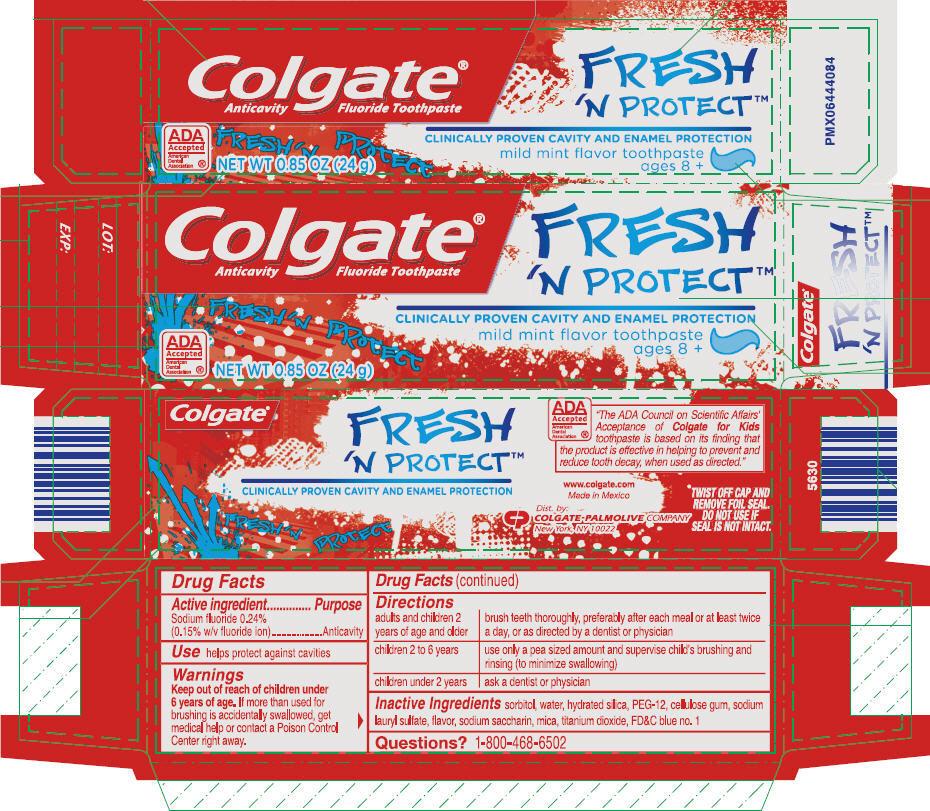 Colgate Junior Fresh Protect (Sodium Fluoride) Paste, Dentifrice [Mission Hills, S.a.de C.v.]