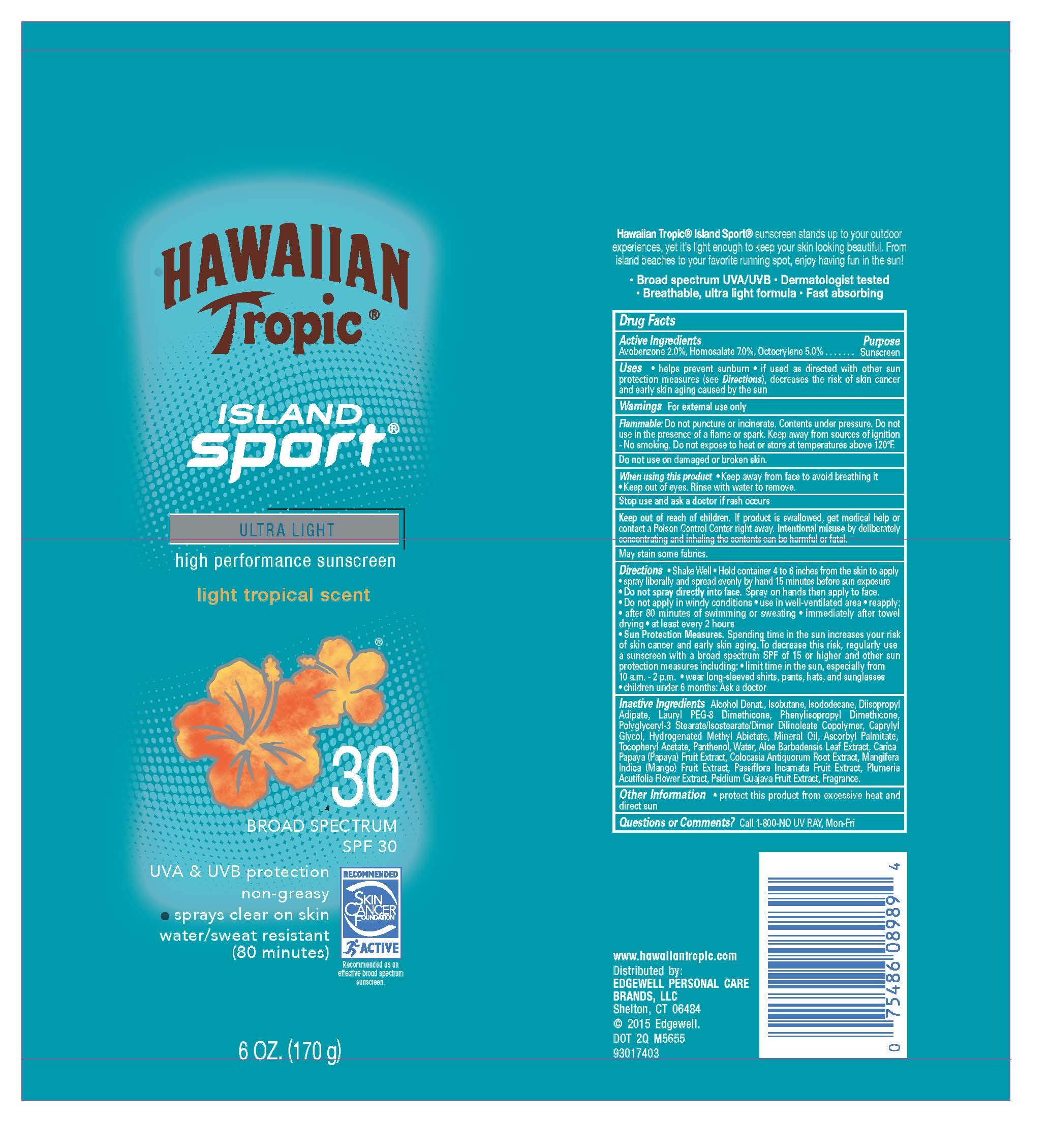 Hawaiian Tropic (Avobenzone Homosalate Octocrylene) Spray [Energizer Personal Care Llc]