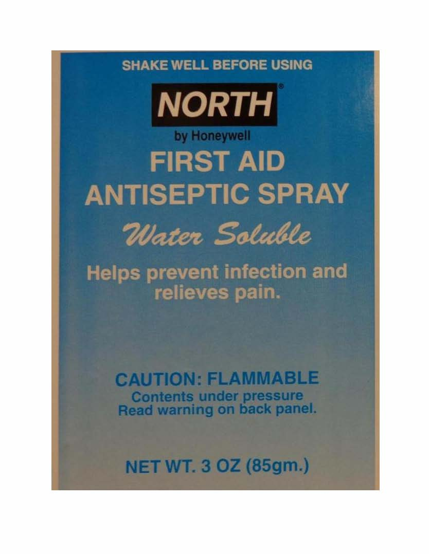 North First Aid Antiseptic (Benzalkonium Chloride, Benzocaine) Spray [North Safety Products]