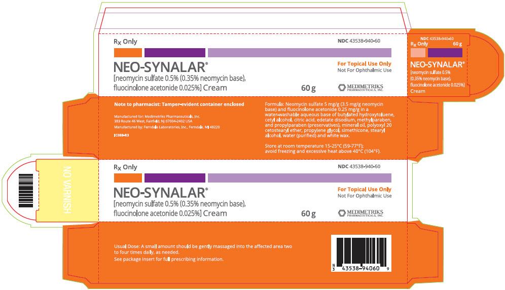 Neo-synalar (Neomycin Sulfate And Fluocinolone Acetonide) Cream [Medimetriks Pharmaceuticals]