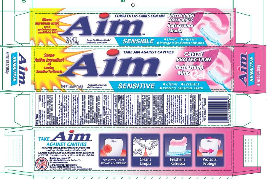 Aim Sensitive Cavity Protection (Potassium Nitrate, Sodium Fluoride) Gel, Dentifrice [Church & Dwight Co., Inc.]
