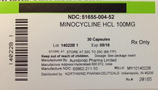 Minocycline Hydrochloride Capsule [Northwind Pharmaceuticals, Llc]