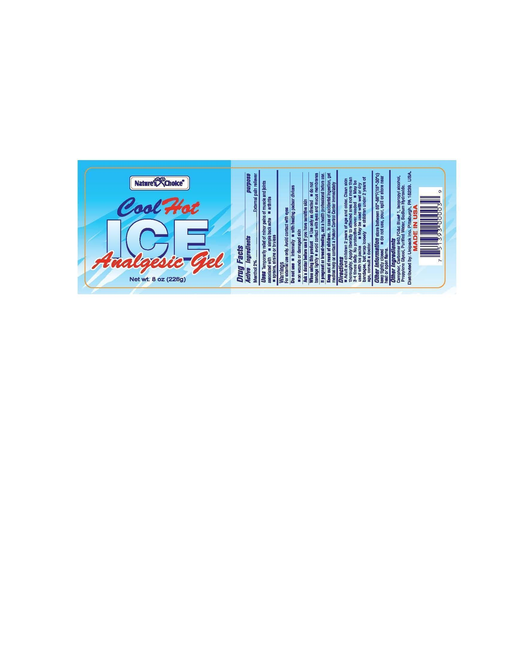 Natures Choice Cool Hot Ice (Menthol) Gel [Unipack, Inc.]