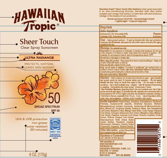 Hawaiian Tropic (Avobenzone Homosalate Octisalate Octocrylene) Spray [Energizer Personal Care Llc]