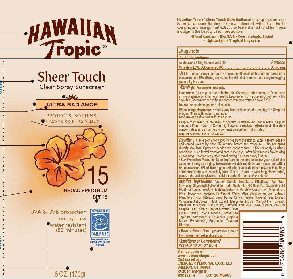 Hawaiian Tropic (Avobenzone, Homosalate, Octisalate, Octocrylene) Spray [Energizer Personal Care Llc]