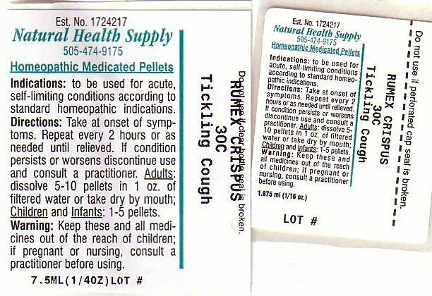 Tickling Cough (Rumex Crispus Root) Pellet [Natural Health Supply]
